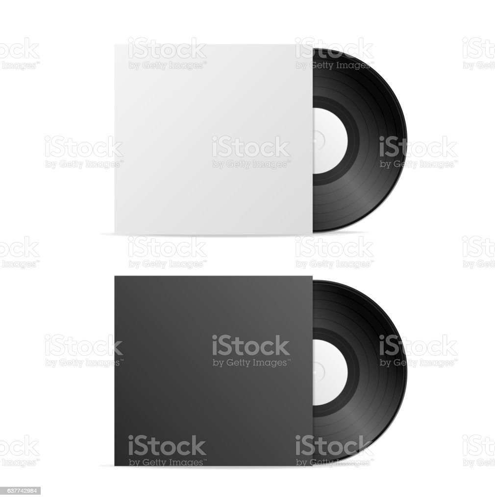 Vinyl Record Blank. Vector vector art illustration