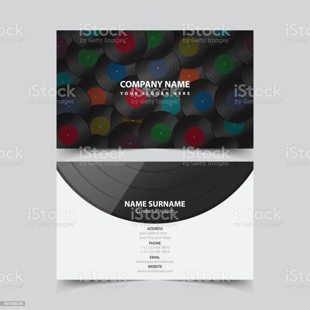 vinyl record business card template stock vector art 697008206 istock