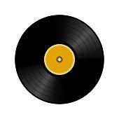 istock Vinyl record isolated on white, 3d vector illustration 1325689653