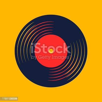 istock vinyl record music vector with vinyl record word 1151138306