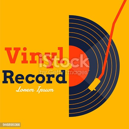 istock vinyl record music vector with yellow background graphic 946895066