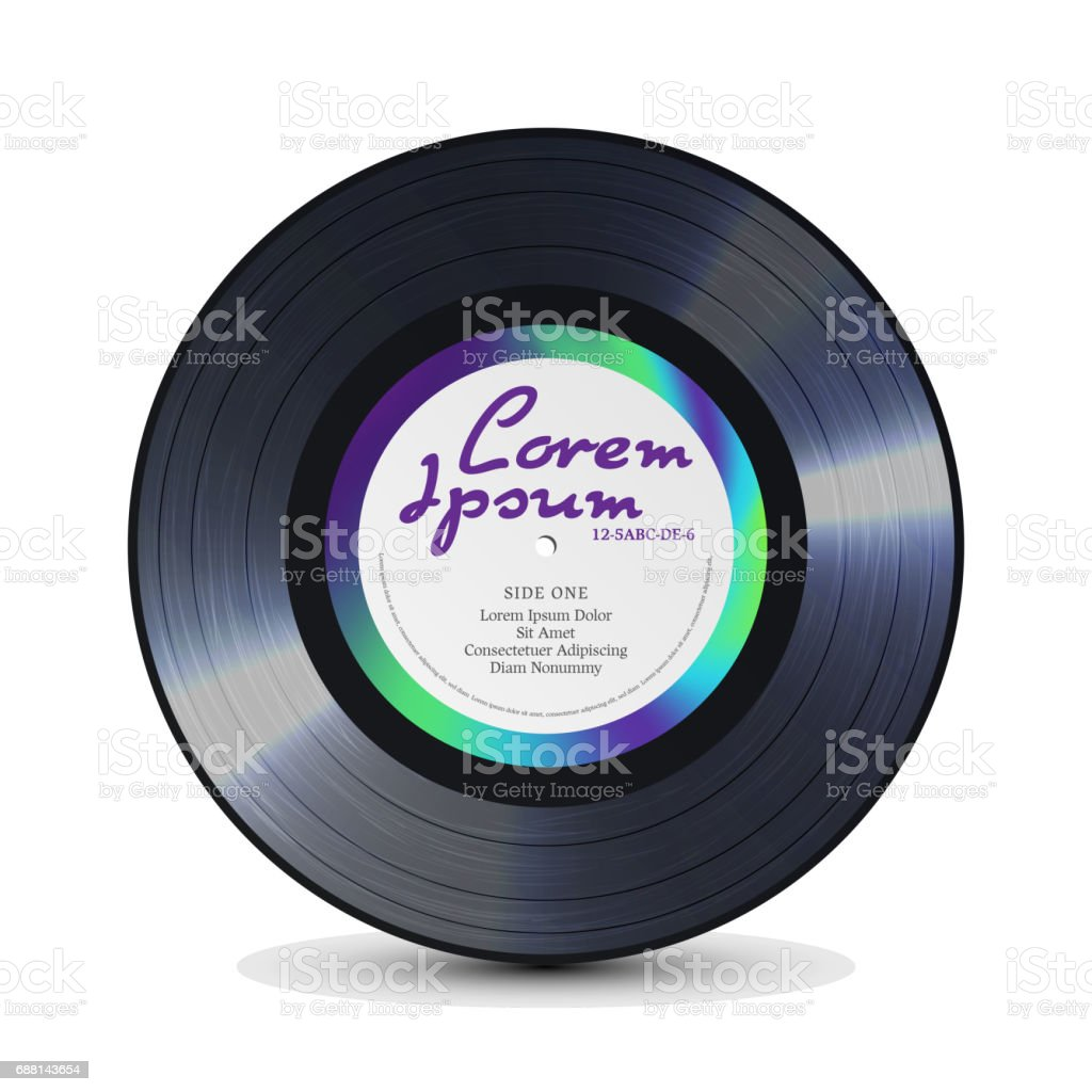 Vinyl Record. Retro Sound Carrier. Rerto Template Of Music Record Plate. For Musical Flyer, Poster vector art illustration