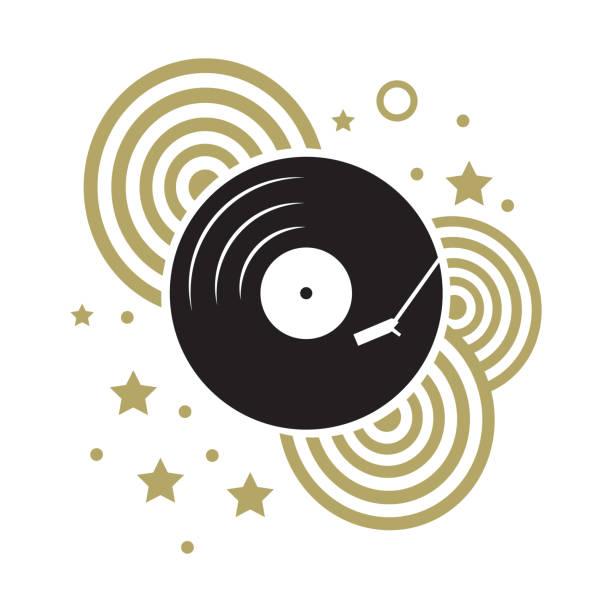 vinyl record - holiday background stock illustrations