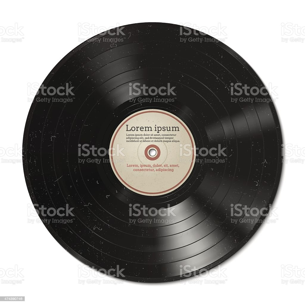 Vinyl record vector art illustration