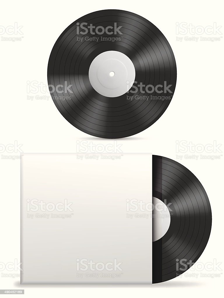Vinyl record. vector art illustration