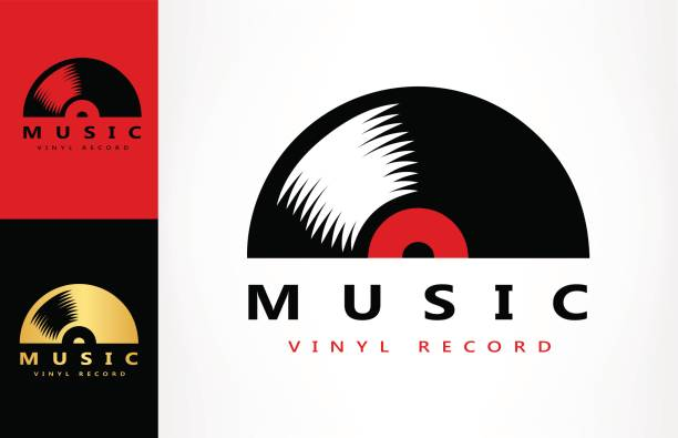 vinyl record - record analog audio stock illustrations