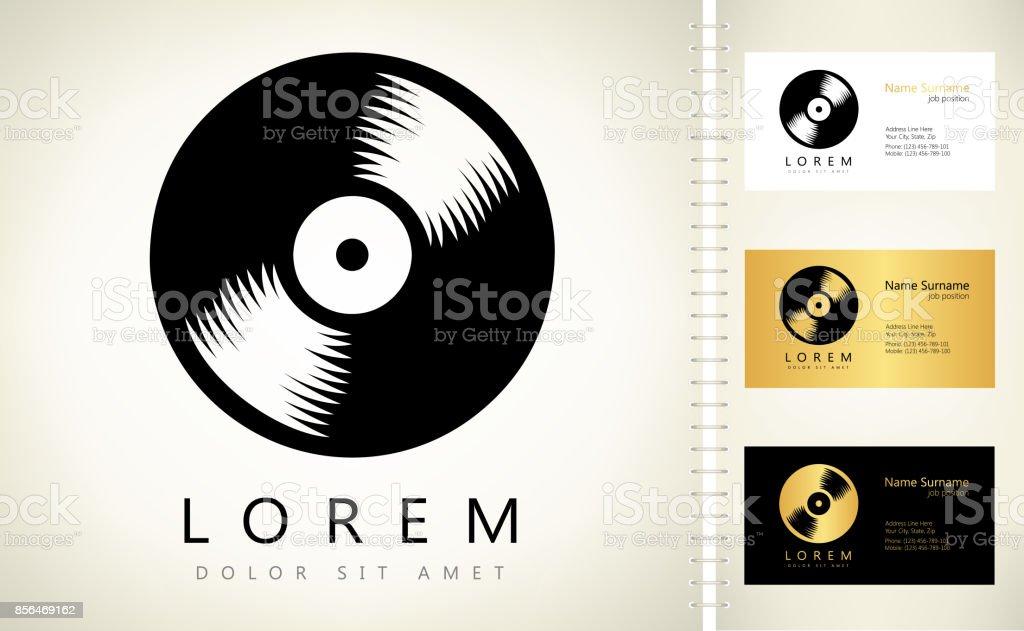 vinyl record vector art illustration