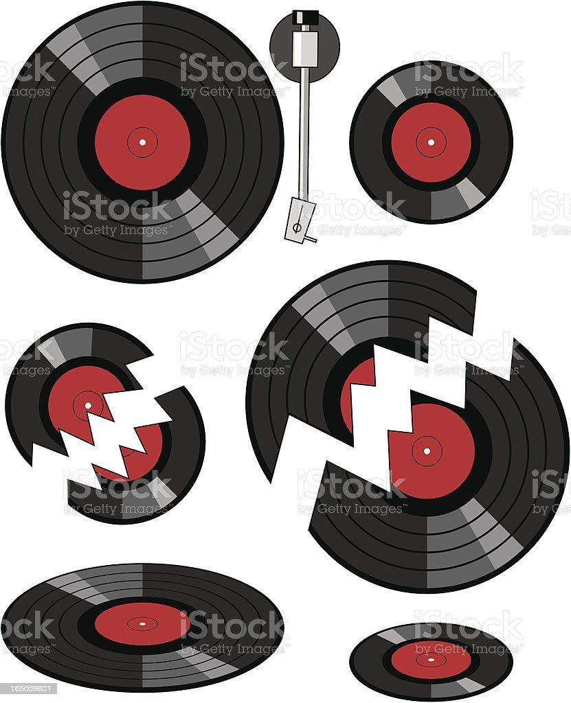 Vinyl Records vector art illustration
