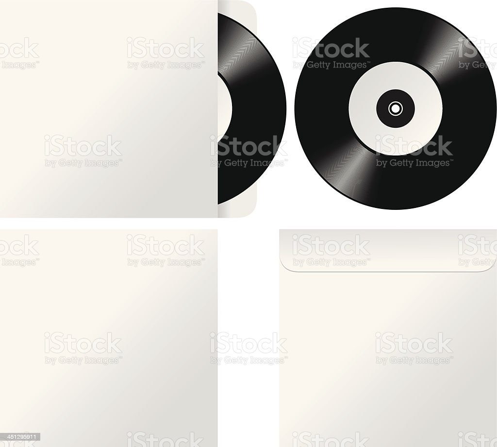 Vinyl Records royalty-free stock vector art