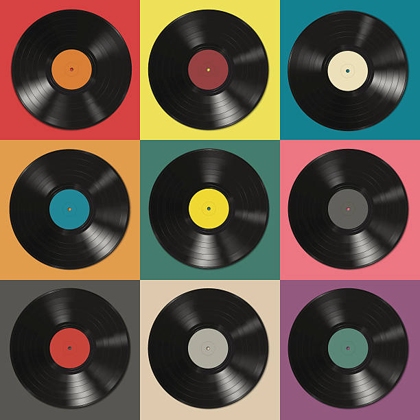 vinyl records - record analog audio stock illustrations