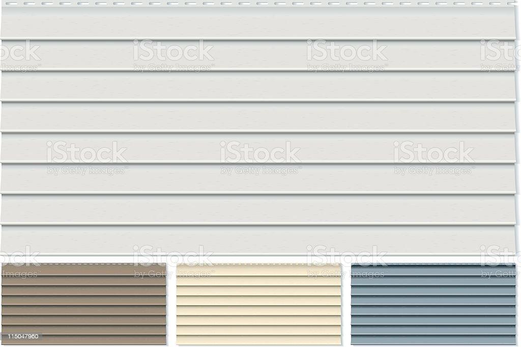 Vinyl Siding Clapboard Sample Set Done in Four Different Colors vector art illustration