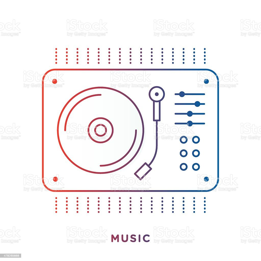 Vinyl Turntable Symbol vector art illustration