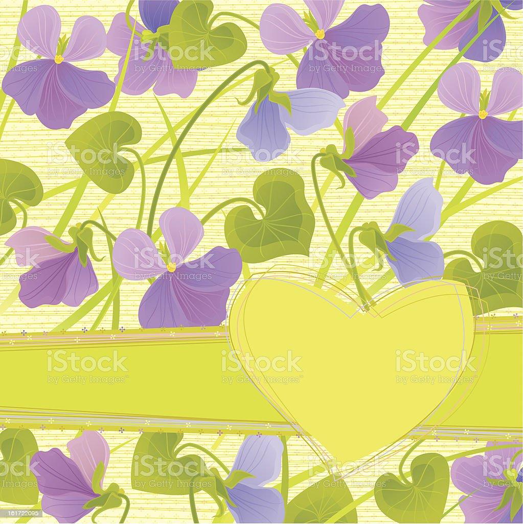 Viola Invitation royalty-free stock vector art