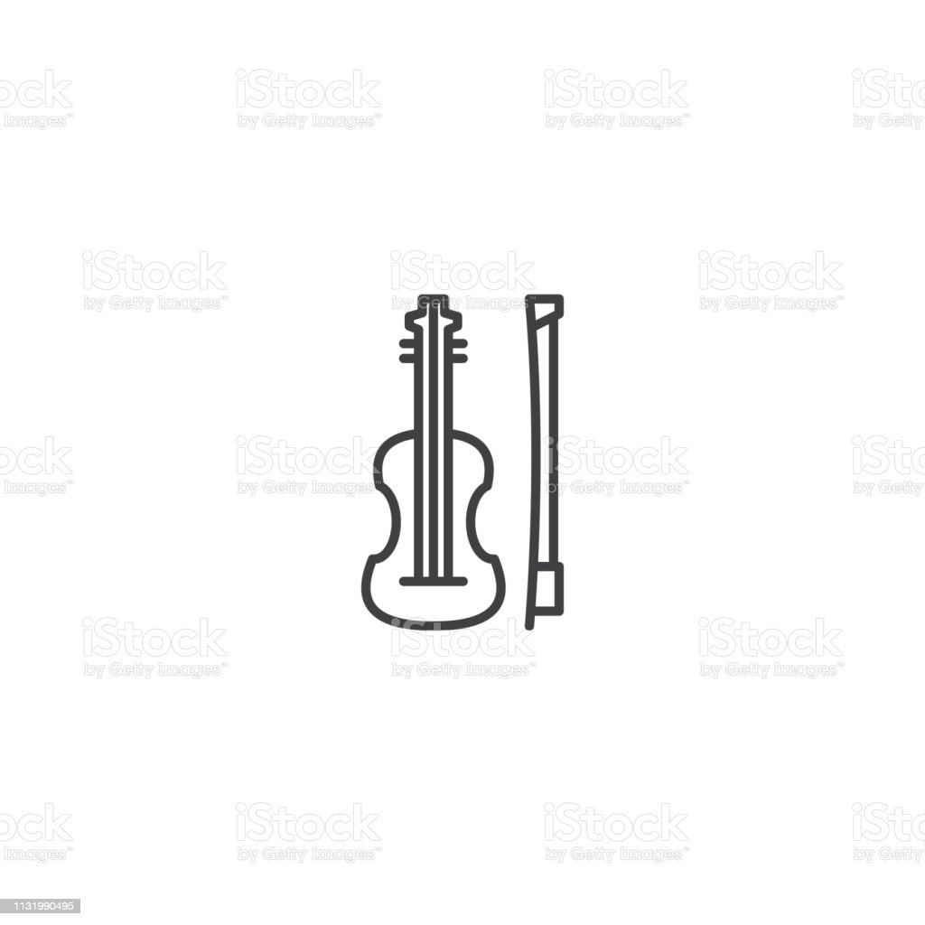 Viola music instrument icon vector vector art illustration