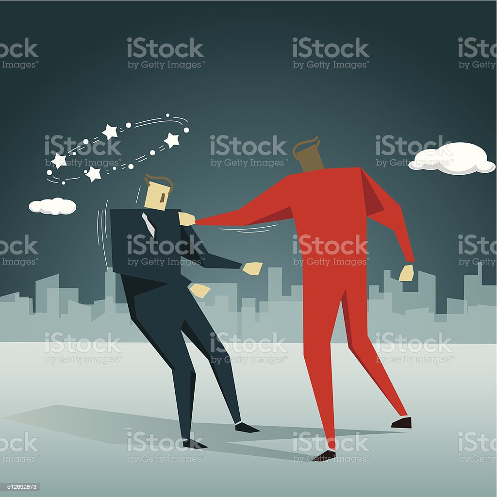 Violence vector art illustration