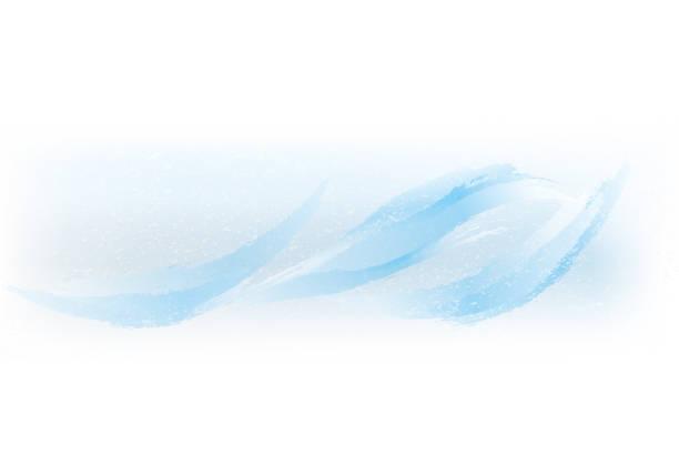 Violent flow of water vector art illustration