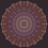 Violet and Pink Line Mandala