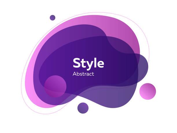 보라색과 보라색 추상 투명 레이어 - 샘플 텍스트 stock illustrations
