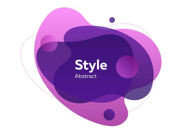 보라색과 보라색 투명 스플래시 - 샘플 텍스트 stock illustrations