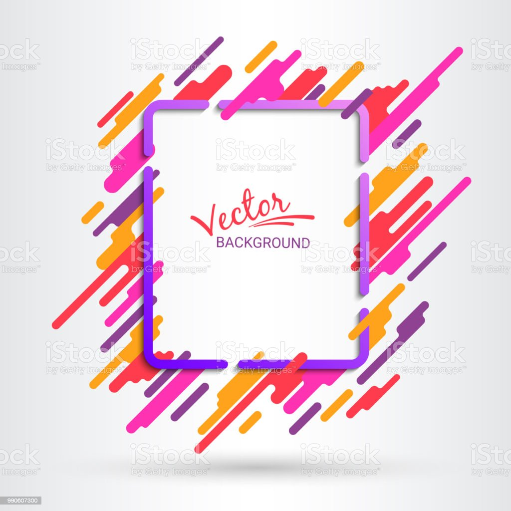 Violet And Red Frame On White Background Dynamic Motion Of Geometric ...