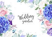 Violet botanical vector design banner
