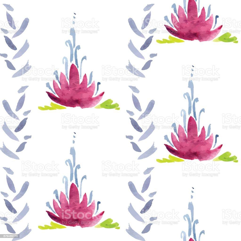 Violet flowers seamless pattern 免版稅 violet flowers seamless pattern 向量插圖及更多 式樣 圖片