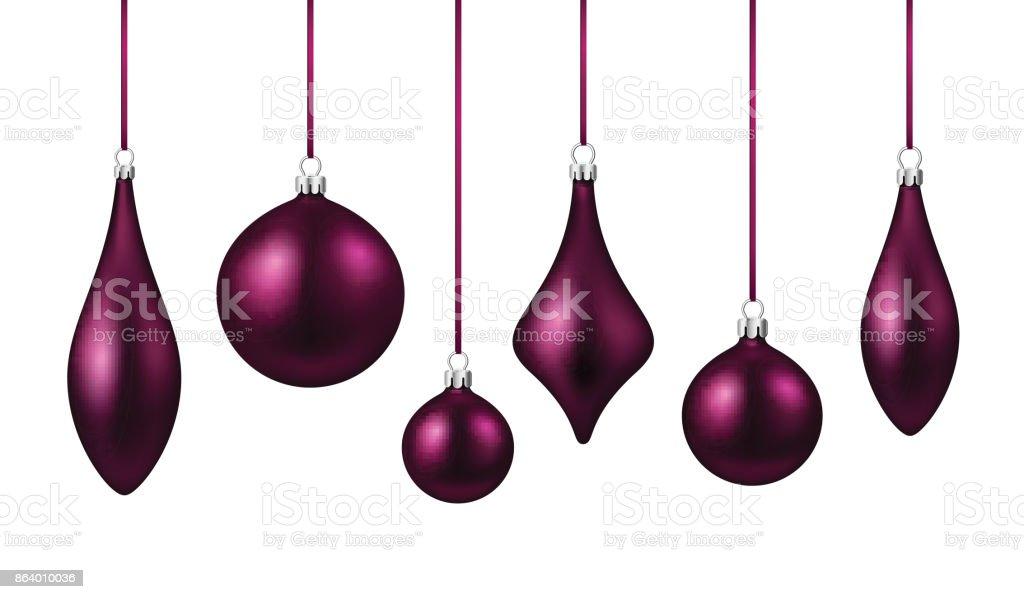Boules De Noël Isolés Violettes Définie – Cliparts vectoriels et ...