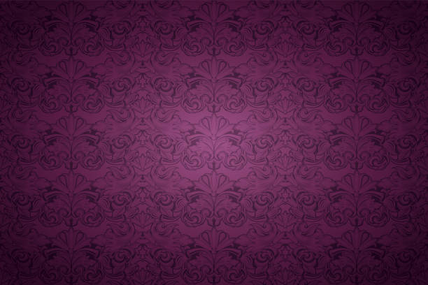 violet, marsala, purple vintage background , royal with classic baroque pattern - renaissance style stock illustrations, clip art, cartoons, & icons