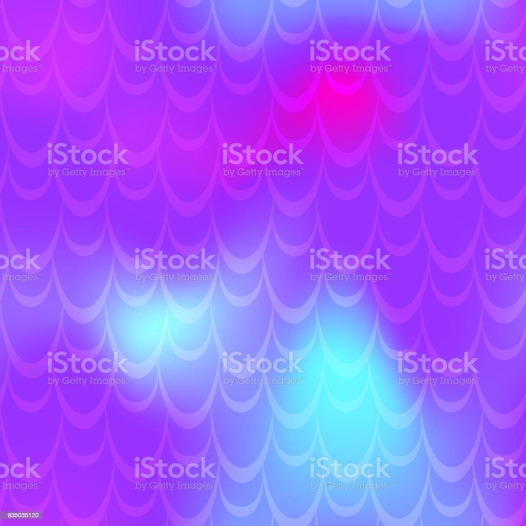 Violet mermaid vector background. Multicolored iridescent background. vector art illustration