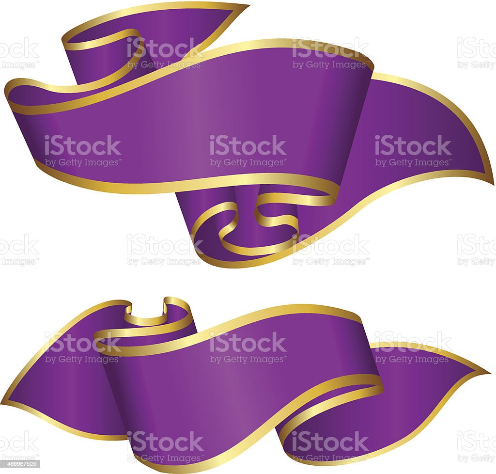 Violet ribbon collection royalty-free violet ribbon collection stock vector art & more images of blank