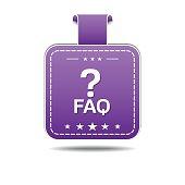 FAQ Violet Vector Icon Design