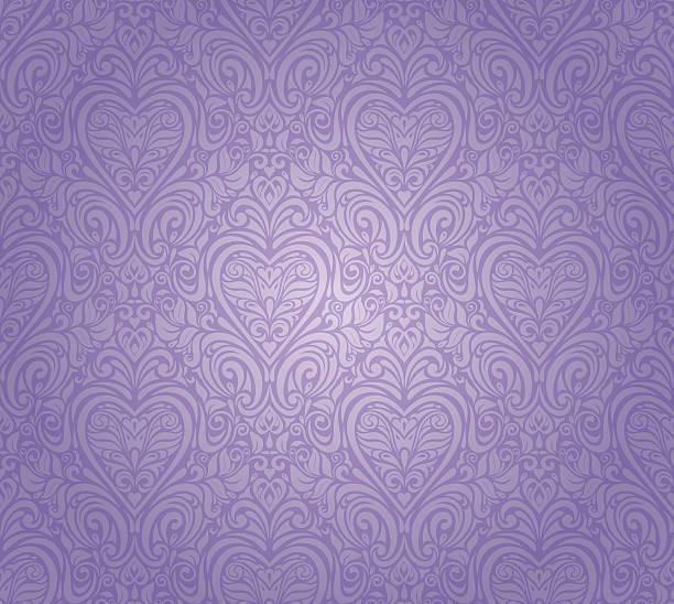 violet vintage seamless floral background design violet vintage seamless floral pattern background design lavender color stock illustrations