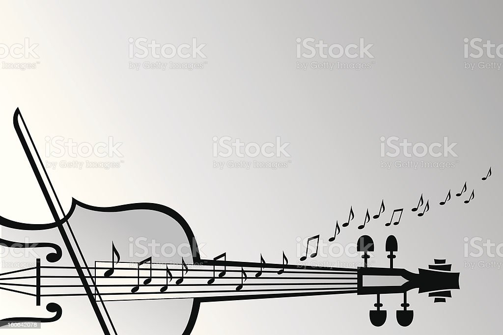 violin and musical notes royalty-free stock vector art