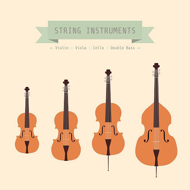 stockillustraties, clipart, cartoons en iconen met violin family - viool