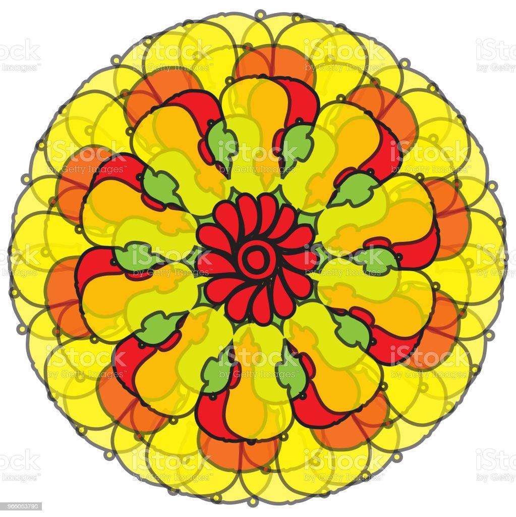 скрипичный цветок на белом фоне - Векторная графика Без людей роялти-фри