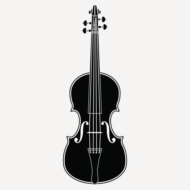 stockillustraties, clipart, cartoons en iconen met viool-pictogram - viool