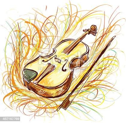 istock Violin in color sketch style 452162769