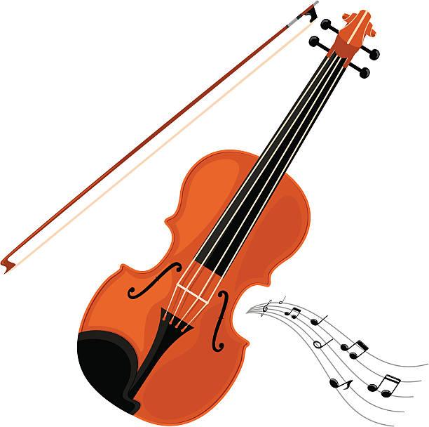 stockillustraties, clipart, cartoons en iconen met violin - incl. jpeg - viool