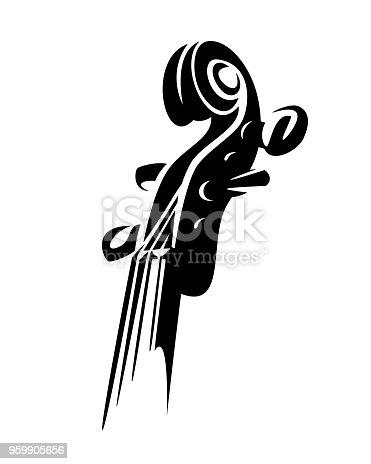 istock violin musical instrument black vector design 959905656