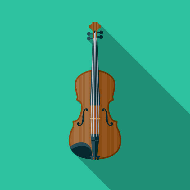 violin musical instrument icon - skrzypce stock illustrations
