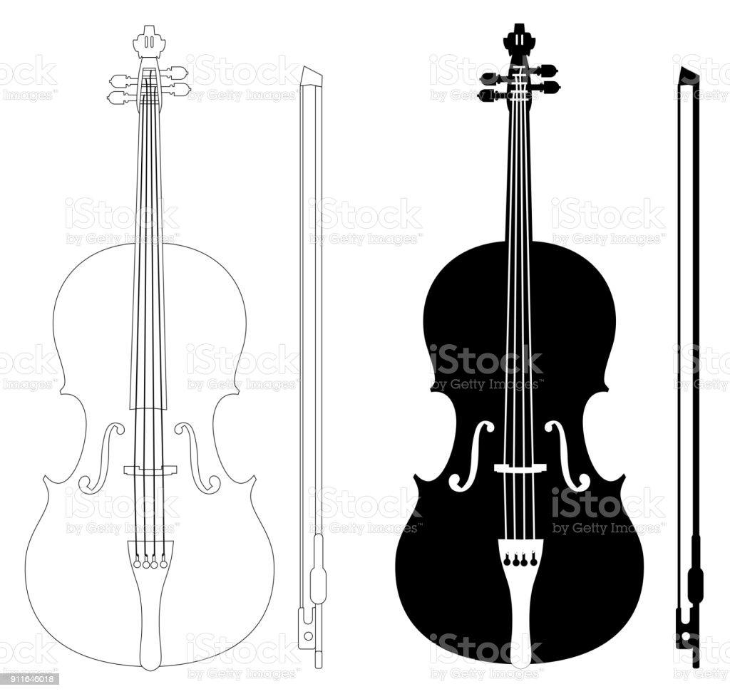 Vetores De Conjunto De Desenho De Violino E Mais Imagens De