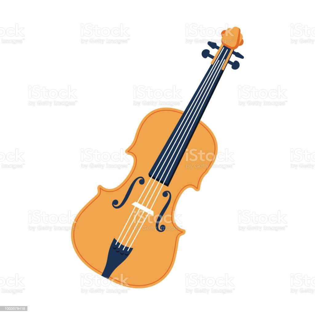 Violin vector flat icon. vector art illustration