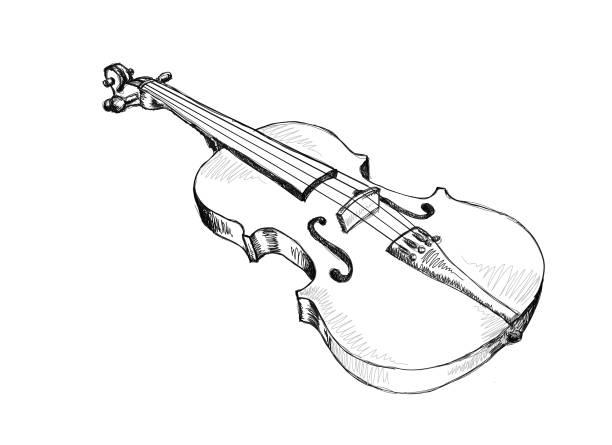 Violin vektorkonstillustration
