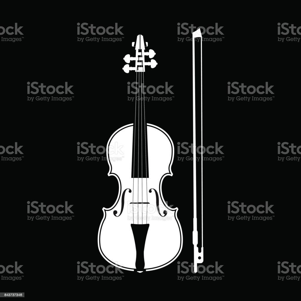 Violin vector art illustration