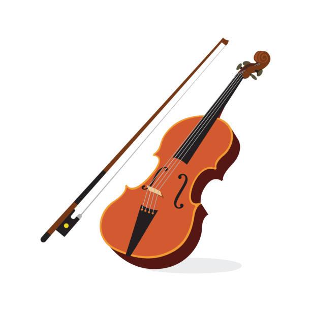 stockillustraties, clipart, cartoons en iconen met viool - viool