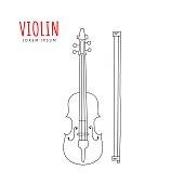 Violin vector illustration.
