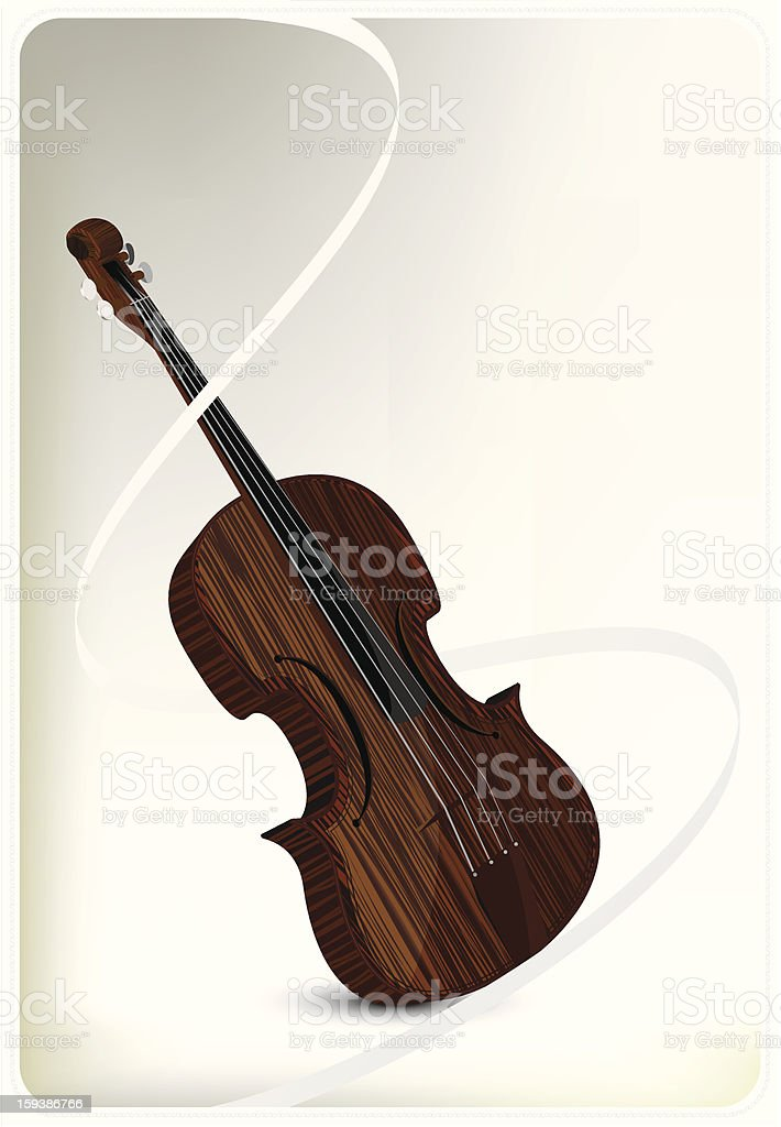 violin vector royalty-free stock vector art