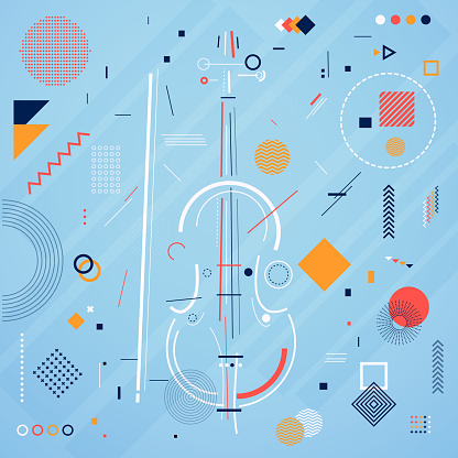 Violin with Abstract shapes