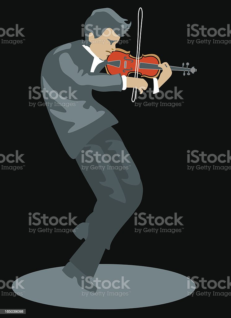Violinist vector art illustration