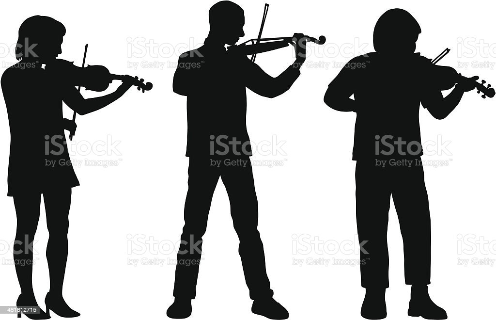 Violins vector art illustration